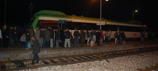 Última viagem do comboio no ramal de Cáceres